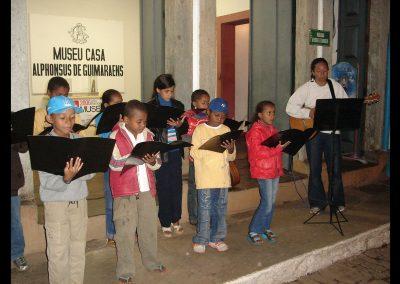 Ação cultural apresentação musical