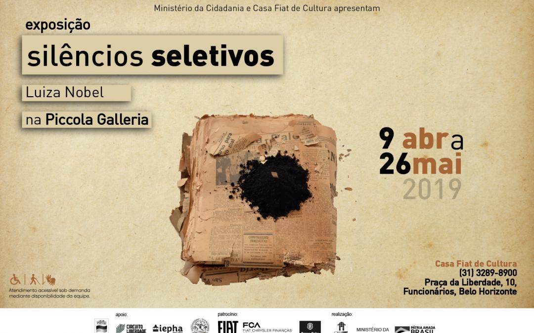 Exposição Selêncios Seletivos – Luiza Nobel na Piccola Galeria